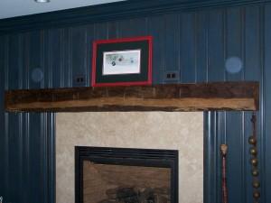 Reclaimed Wood Mantle