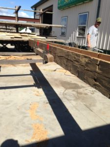 reclaimed hand hewn hollow out barn beam