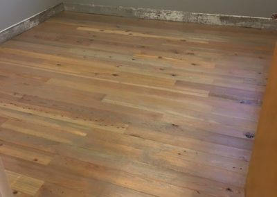 yellow pine gray stain flooring