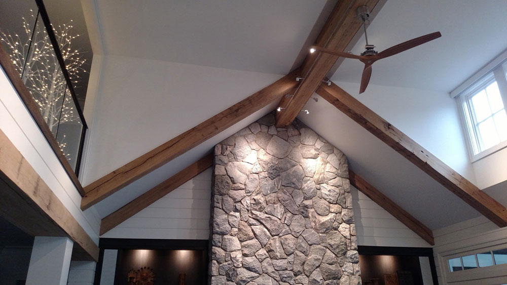 reclaimed resawn wood beams