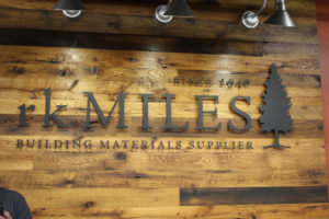 reclaimed oak wood barn siding and paneling in retail store